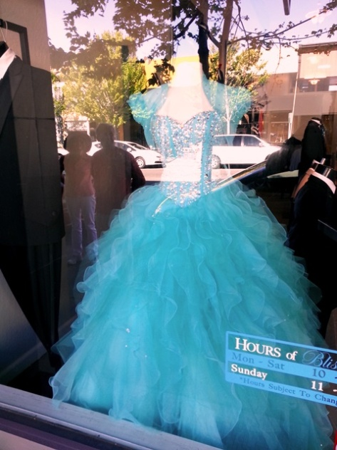 Dress in Window